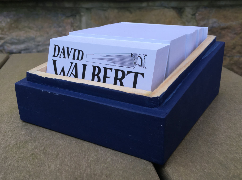 business card display box