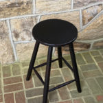 carved-edge work stool